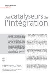 Les institutions civiles sont un élément porteur de ... - terra cognita