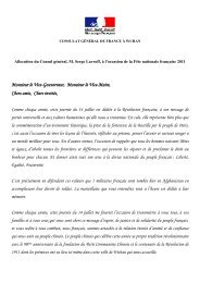 Monsieur le Gouverneur, - Consulat général de France à Wuhan