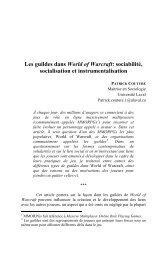 Aspects Sociologiques - Faculté des sciences sociales - Université ...