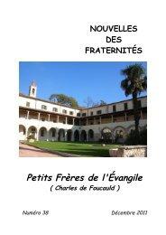 Bulletin des fraternites Petits Freres de l'Evangile - Charles de ...