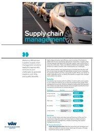 Supply chain management - Wallenius Wilhelmsen Logistics