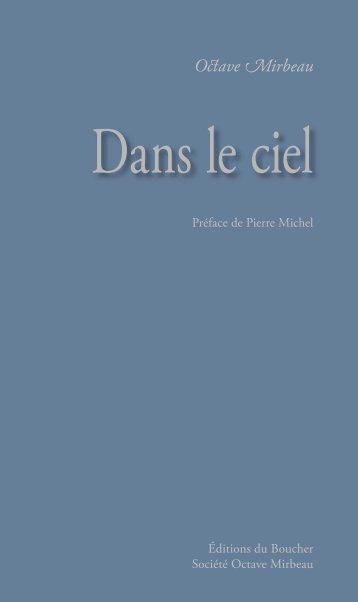 Dans le ciel - Octave Mirbeau - Éditions du Boucher