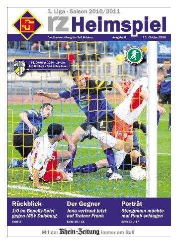 rz-heimspiel - Nr. 6 - FC Carl Zeiss Jena - TuS Koblenz