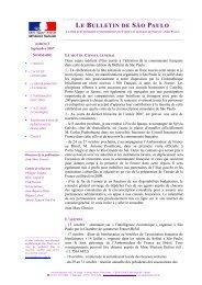 Bulletin de São Paulo 2 - Consulat Général de France à São Paulo ...
