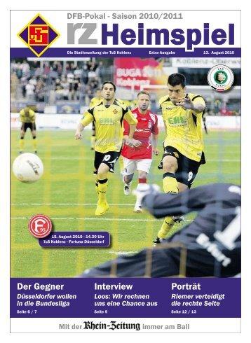 rz-heimspiel - Extra-Ausgabe - Fortuna Düsseldorf - TuS Koblenz