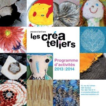 programme 2013-2014 - les créateliers