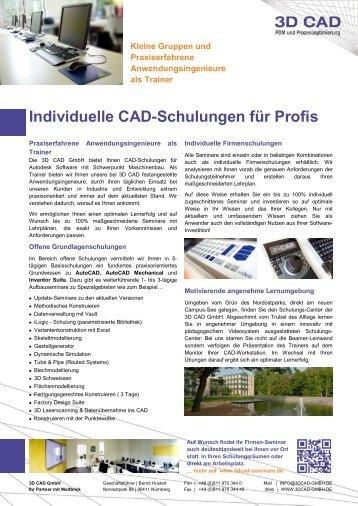 Schulungs-Flyer - 3D CAD GmbH