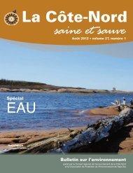 La Côte-Nord Saine et Sauve - Conseil régional de l'environnement ...
