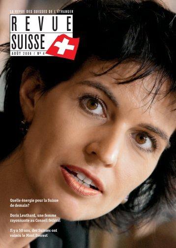 Quelle énergie pour la Suisse de demain? Doris ... - Schweizer Revue