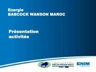 Présentation Babcock Wanson Maroc