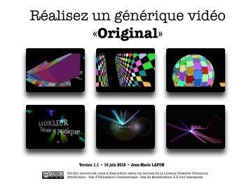 Réalisez un générique vidéo «Original» - Mac Club 06