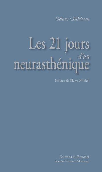 Les 21 jours d'un neurasthénique - Éditions du Boucher
