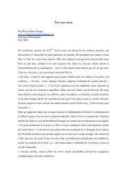 Être sans raison Par Pierre-Marie Pouget www ...