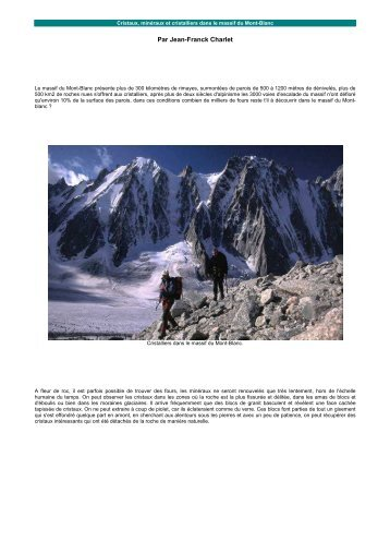 Mineraux et cristaux du Mont-Blanc (Chamonix)