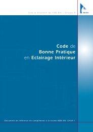 Code de bonne pratique en éclairage intérieur. Document ... - CSTC
