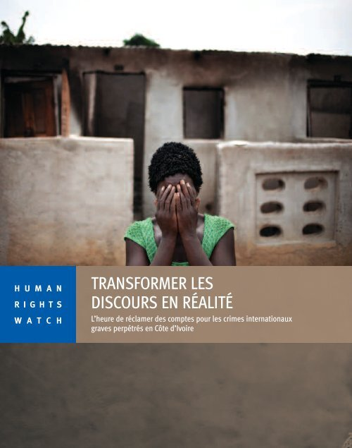 Télécharger le rapport complet - Human Rights Watch
