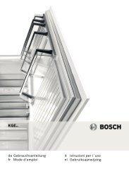 Bosch KGE 39AL40 Fridge Freezer Operating Instructions User ...
