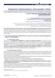 TRAVAUX PERSONNELS ENCADRÉS (TPE)1 - Académie de caen