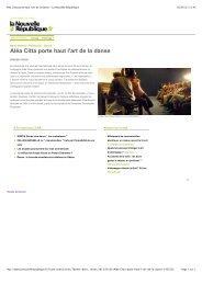 Aléa Citta porte haut l'art de la danse - La Nouvelle République