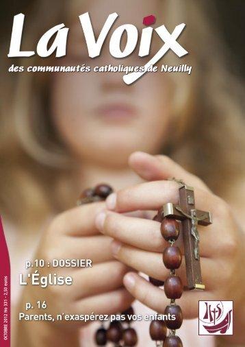 La Voix - Octobre 2012 - Paroisse Saint Jean Baptiste de Neuilly