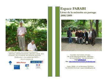 Espace FARABI Livret de la mémoire en partage ... - Projets citoyens