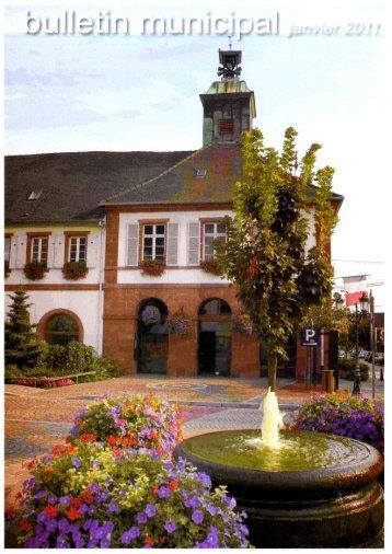 Bulletin Municipal - Janvier 2011 - Site officiel de la ville d'Ingwiller