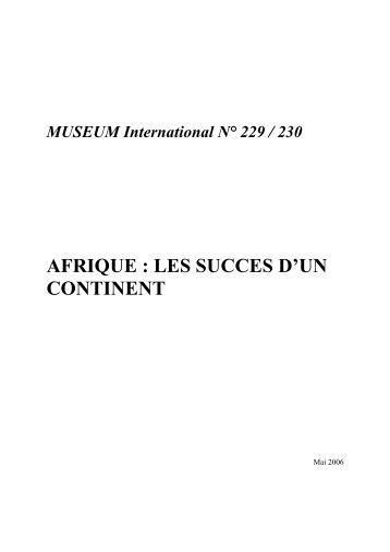 AFRIQUE : LES SUCCES D'UN CONTINENT - Unesco