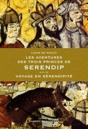 Les Aventures des trois princes de Serendip - Editions Thierry ...