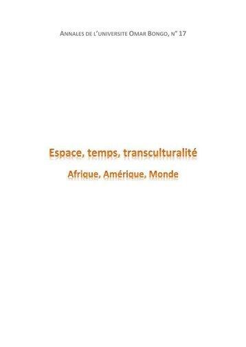 Annales de l'Université Omar Bongo N°17 - Site Officiel des Presses ...