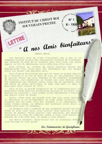 01 - Institut du Christ Roi Souverain Prêtre