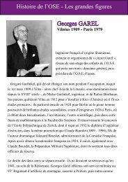 Histoire de l'OSE - Les grandes figures Georges GAREL