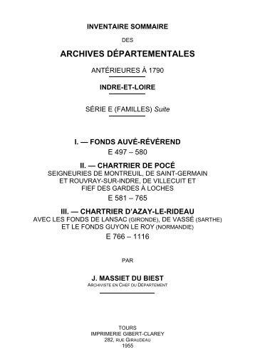 suite, E 497-1116 (XIIIe-XXe s.) - Archives départementales