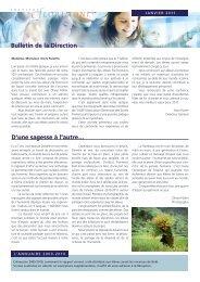 Bulletin de la Direction D'une sagesse à l'autre… - Institut Florimont