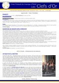 Newsletter N° 10 - Les clefs d'or France - Page 5