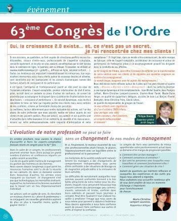63ème Congrès de l'Ordre - Ordre des experts-comptables de Paris ...