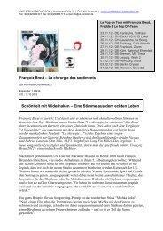 Presseinfo als PDF - Uwe Kerkau Promotion