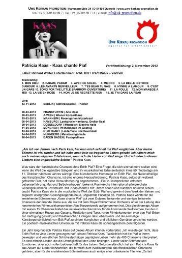 Pressinfo als PDF - Uwe Kerkau Promotion