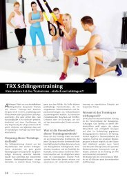 TRX Schlingentraining, (2/2012) - Zentrum Aktiver Prävention