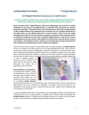Un Weight Watchers nouveau sur le petit écran - fr.WeightWatchers ...