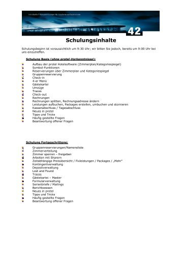 Schulungsinhalte - 42 GmbH