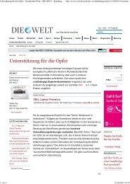 DIE WELT - Zartbitter Köln eV
