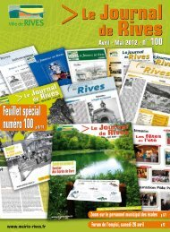 Journal de Rives n° 100 Avril 2012 - Ville de Rives