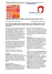 THE BAHAMA SOUL CLUB - Uwe Kerkau Promotion