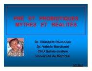 pré et probiotiques mythes et réalités - CHU Sainte-Justine