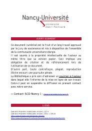 Ce Document Est Le Fruit Dun Bibliothèques De L