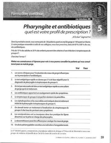 référentiel d'utilisation des antibiotiques pour une
