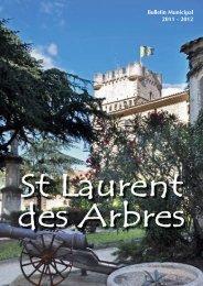 Télécharger le Bulletin Municipal 2012 (PDF) - Mairie de St Laurent ...