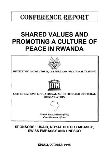 Shared values and promoting a culture of peace ... - unesdoc - Unesco