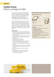 PostPac Promo: pour les colis publicitairesLe lien ... - La Poste Suisse