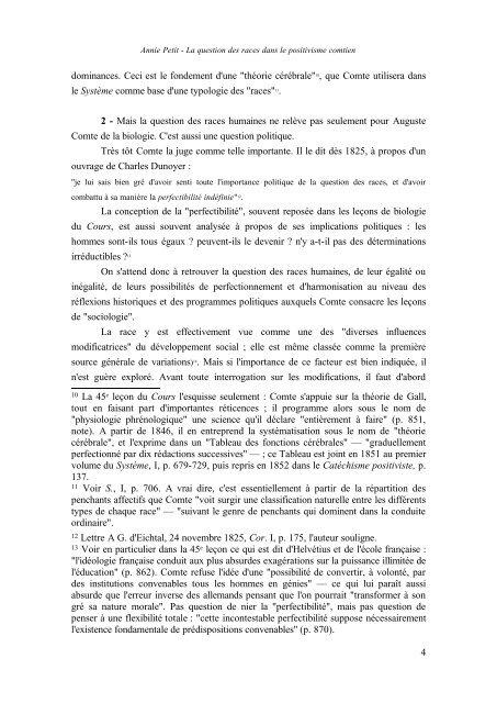 LA QUESTION DES RACES DANS LE POSITIVISME COMTIEN* I ...